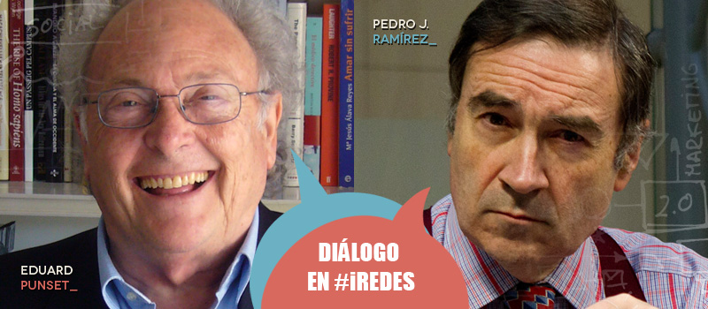 Diálogo de Eduard Punset y Pedro J. Ramírez en iRedes