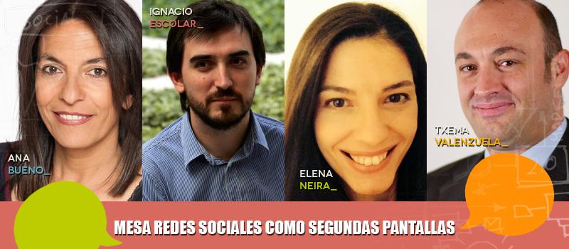Las redes sociales como segundas pantallas, a debate en iRedes con Ana Bueno, Elena Neira e Ignacio Escolar
