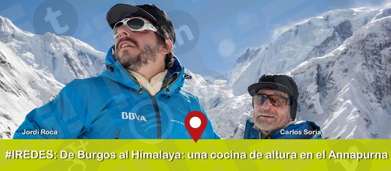 Diálogo entre el repostero Jordi Roca y el alpinista Carlos Soria en iRedes