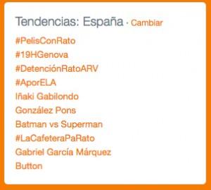 #AporELA fue Trending Topic en España